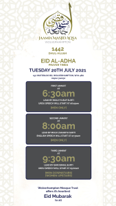 Eid Prayer times